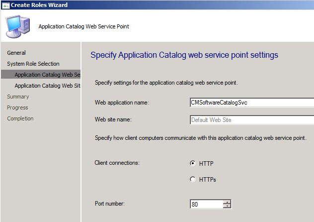 Application Catalog setup