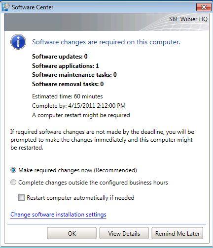 Software Installation SCCM2012