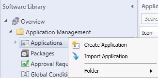 Create Application SCCM2012B2