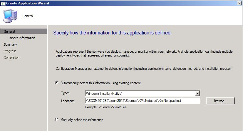 Application Wizard