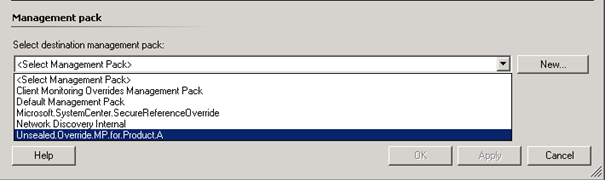 Hide Management Pack (MP) from Operations Manager Console – SCOM 2012