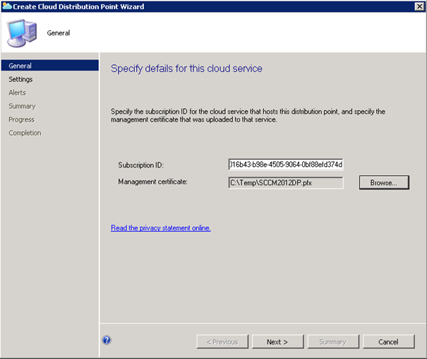Stephan 39 s blog create cloud distribution point on windows for Windows distribution