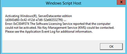 Windows Server 2012 R2 / Windows 8.1 KMS Service Activation